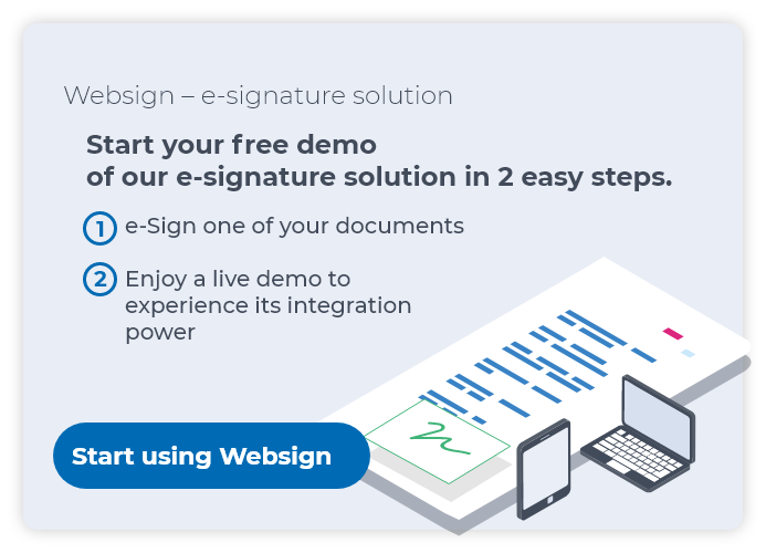 Websign e-signature solution trial