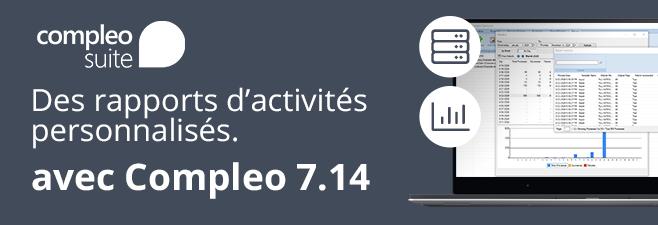 Des rapports d'activités personnalisés avec Compleo Suite 7.14