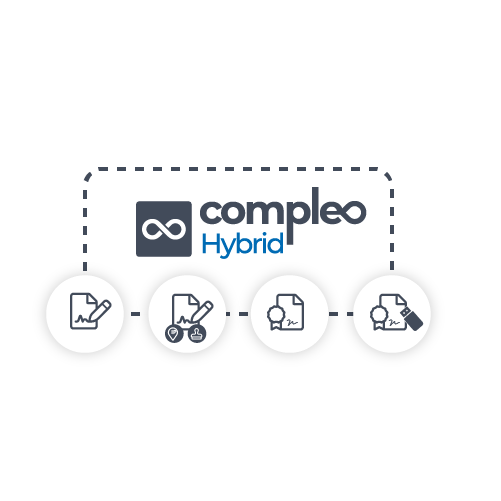 Gestione todo tipo de firmas electrónicas con Compleo Hybrid