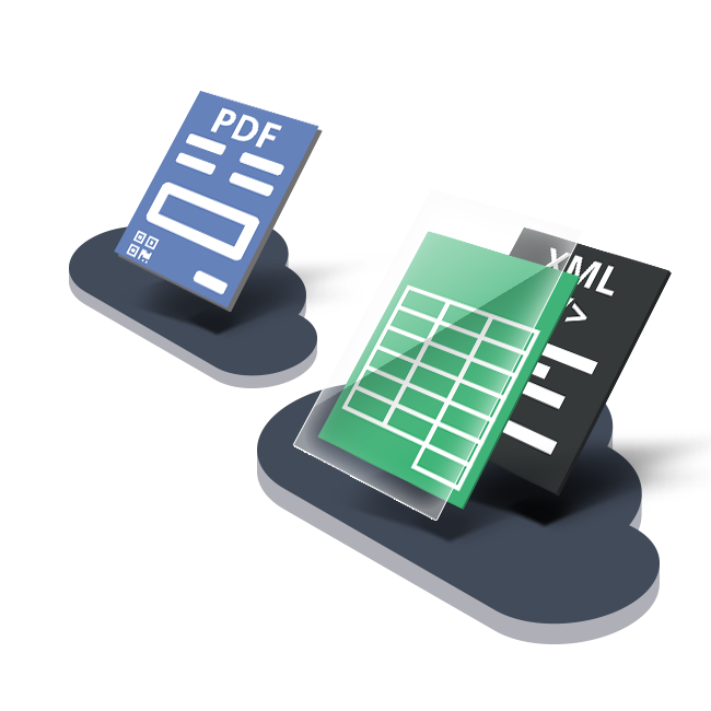 Business Document Delivery Processes PDF to XML in the Cloud