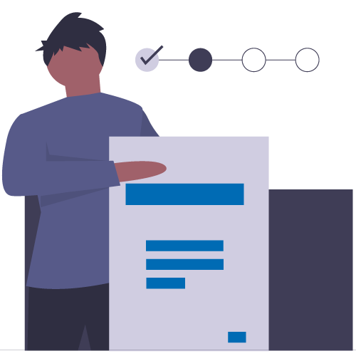 Man showing document workflow and process